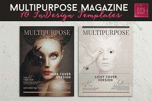 10 Magazine Brochure Templates Pack