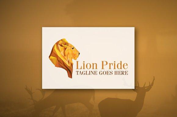 Lion Pride - Geometric Logo