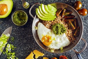 fried Eggs and Avocado