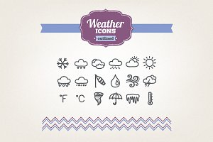 Hand drawn weather icons