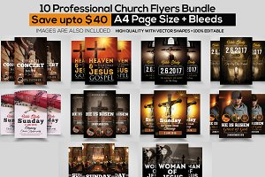 10 Church Flyers Bundle