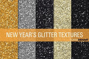New Years Glitter Textures