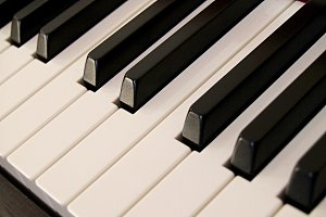 bright keys of piano