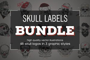 Skull Labels BUNDLE