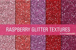 Raspberry Glitter Textures