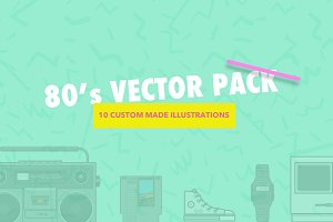 80s Retro Vector Illustration Pack