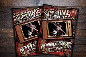 Indie Time Music Flyer