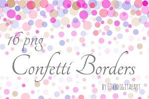 Confetti Borders Confetti Cliparts