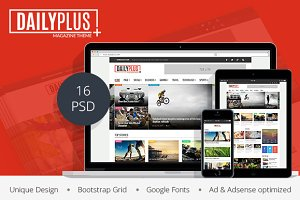 DailyPlus – News & Magazine PSD Temp