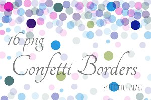 Confetti Borders Confetti Background