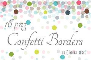 Confetti Clipart Confetti Borders