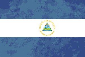 True proportions Nicaragua flag