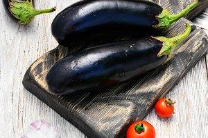 Crop of aubergine