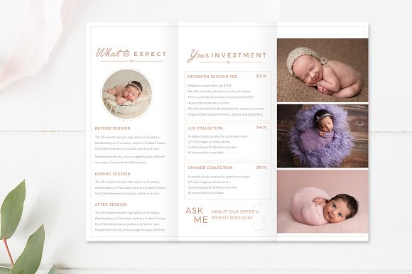 Newborn trifold brochure flyer flyer templates creative market