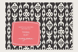 Tribal Ikat VECTOR & PSD tile & patt