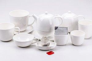 Modern porcelain tea set