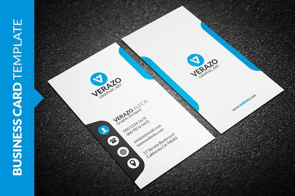 Clean Vertical Business Card ~ Business Card Templates ~ Creative ...