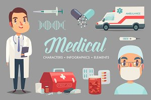 Medical staff characters & elements
