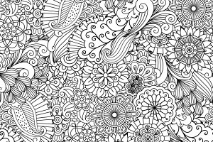 Seamless zentangle like patterns