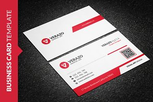 Clean Vibrant Red Business Card
