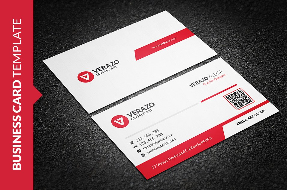 Clean Vibrant Red Business Card ~ Business Card Templates ~ Creative ...