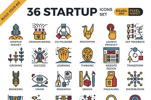 36 Startup business Concept Icon