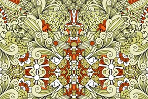 Cute symmetrical floral pattern