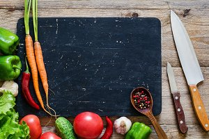 Fresh food ingredients for cooking