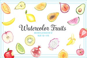 FRUIT WATERCOLOR SET