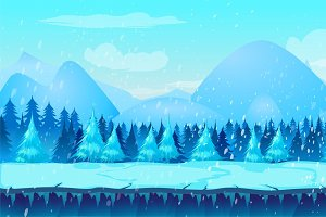 Winter Game Background