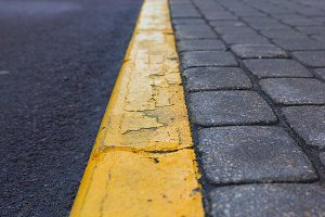 Yellow line. Riga