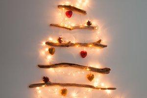 Homemade Driftwood Christmas tree
