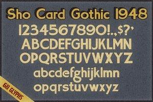 Sho Card Gothic 1948