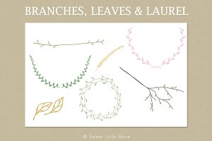Clip Art Branches, Leaves & Laurel