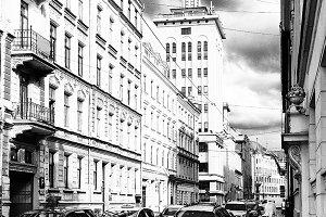 Dzirnavu street. Riga. Latvia