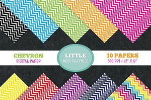 Chevron Digital Paper Pack