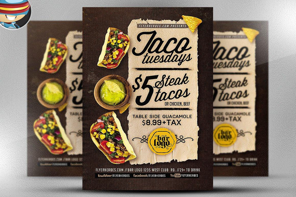 Taco Tuesdays Flyer Template V2 Flyer Templates