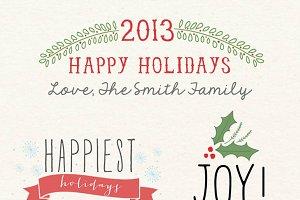 Holiday word overlays - christmas