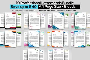10 Business Letterhead Bundle