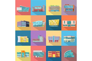 Houses Set. Architecture Variations