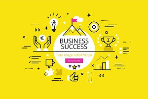 Business Success hero banners