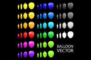 Children's party balloons colorful