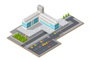 3D isometric view of city