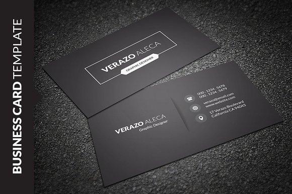 Dark Light Minimal Business Card Business Card Templates - Single business card template