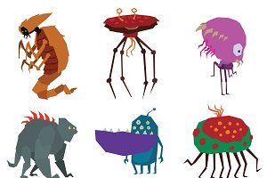 Aliens monsters vector