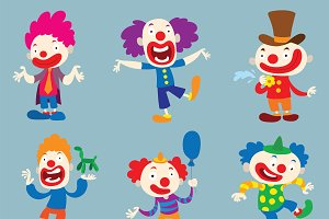Clown character vector cartoon