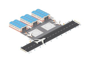 3D isometric  airport