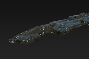 Low Poly Space Cruiser