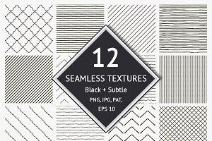 12 Seamless Textured Patterns