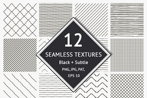 12 Seamless Textured Patterns